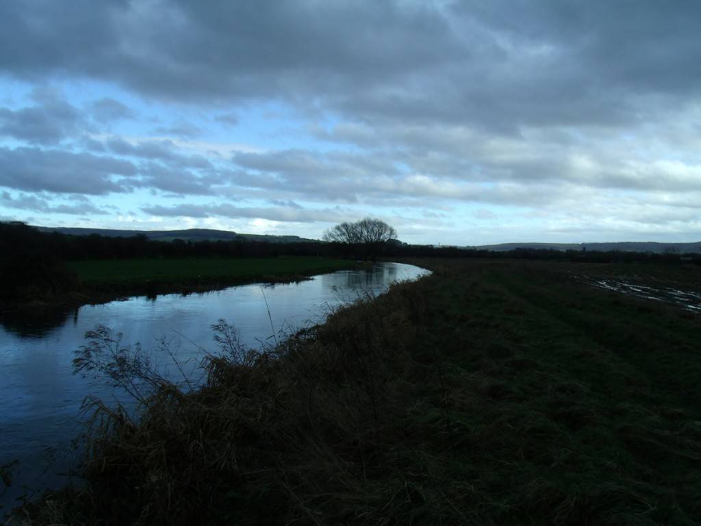 The River Frome in Whitminster
