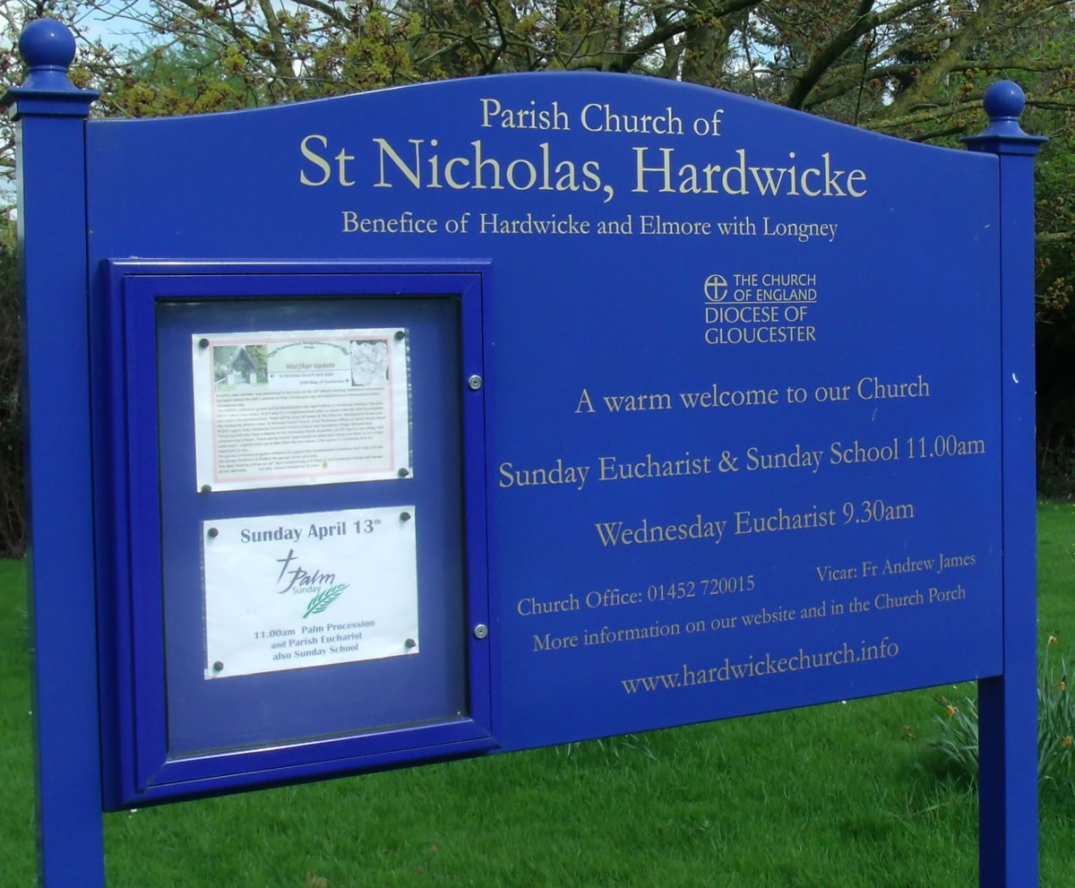 Hardwicke Church Notice Board