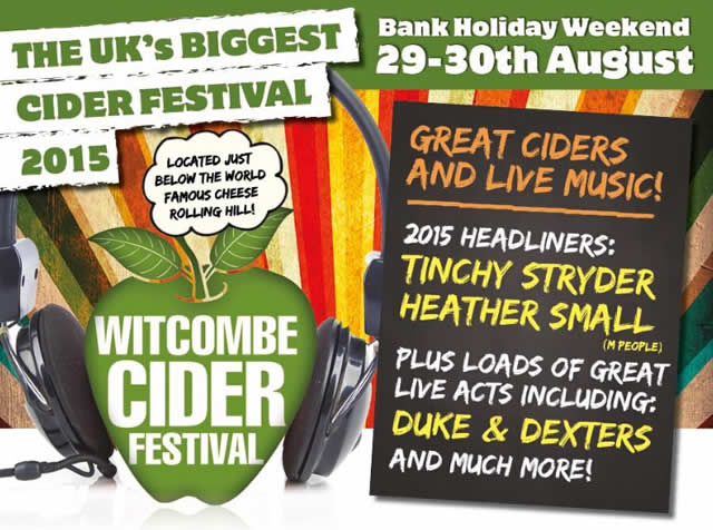 Witcombe Cider Festival August Bank Holiday Weekend 2015