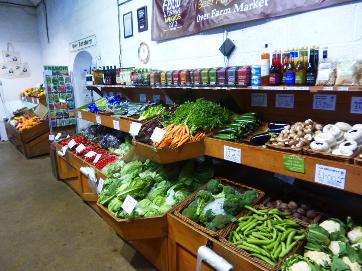 Vegetables at Over Farm Shop