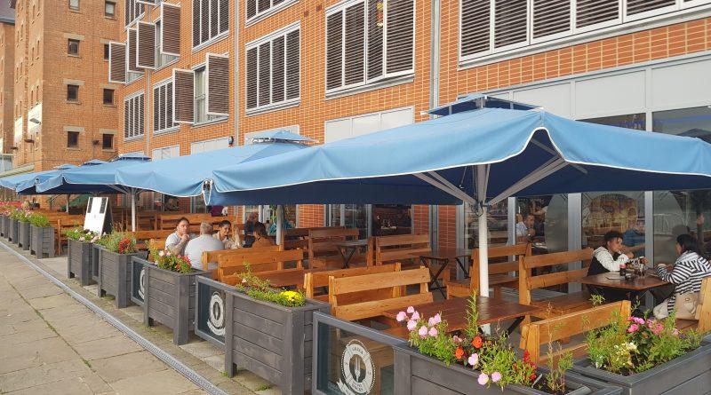 Waterfront restaurant in Glos Docks