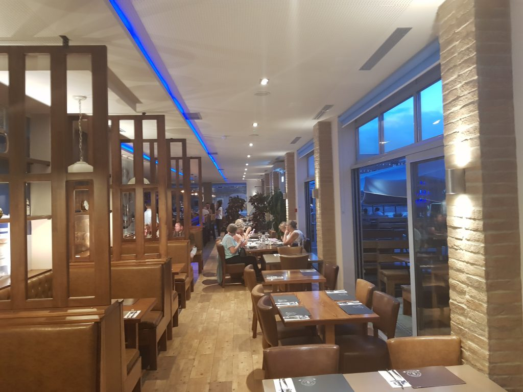 Inside Greek on the Docks