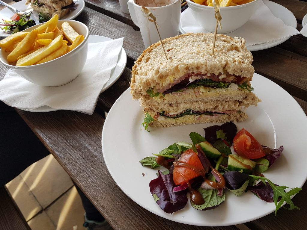 Club Sandwich at Stables Cafe at Saul Junction