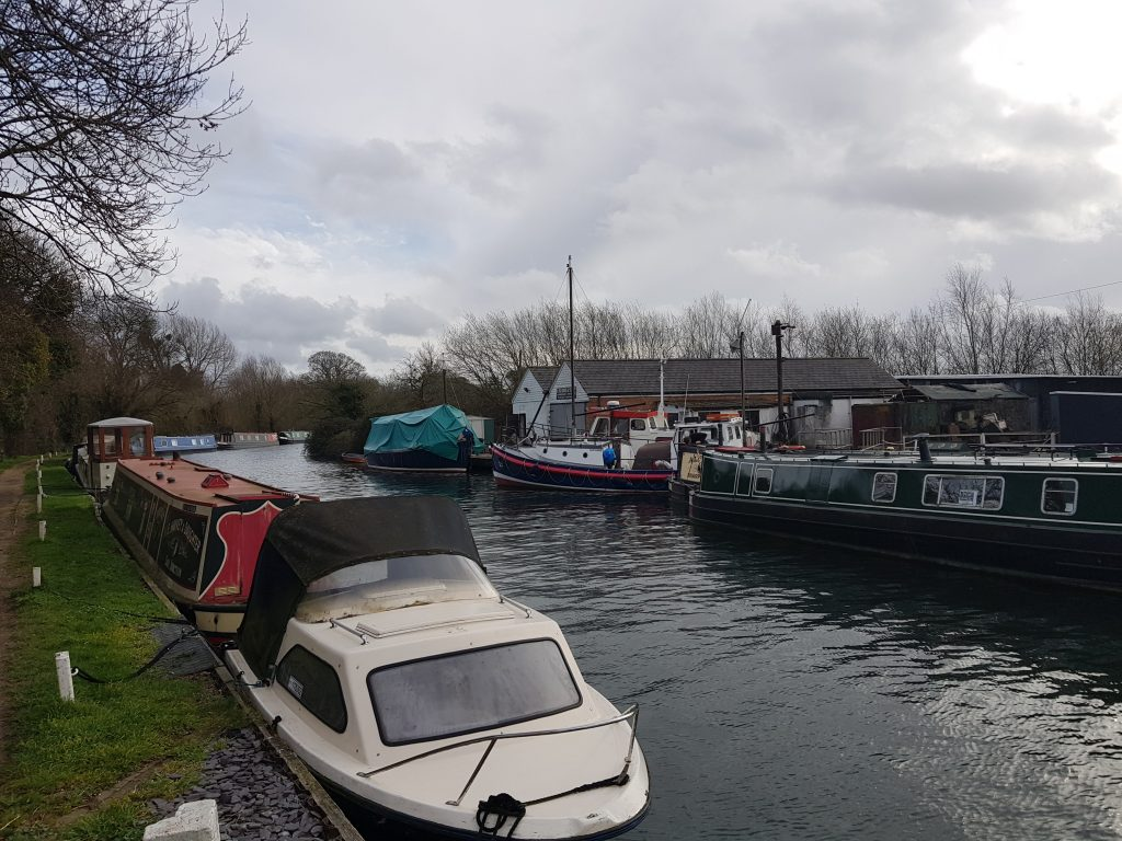 Boats on Stroudwater Navigation