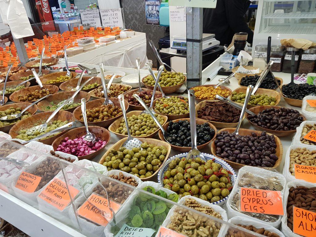 Olive shop in Eastgate Market Gloucester