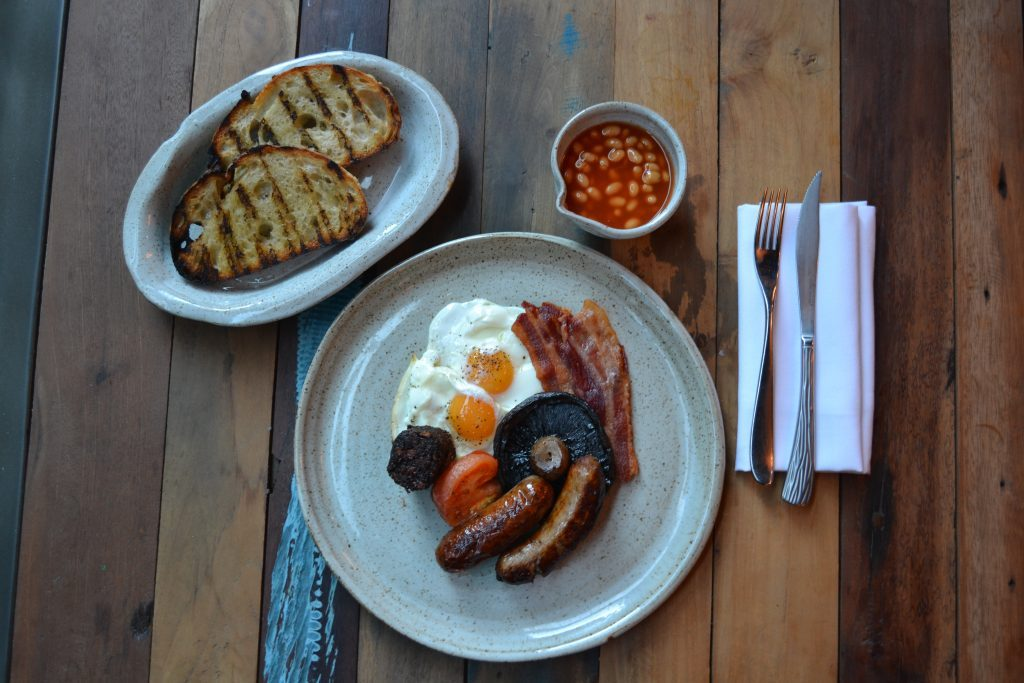 Full English Breakfast at Woodkraft in Cheltenham