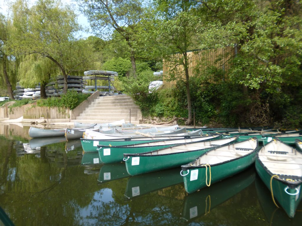 Kayaks on the river wye