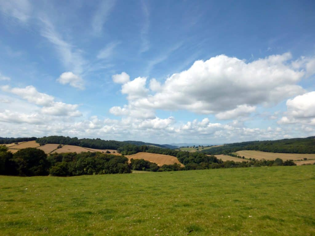 Hills Towards The Wye Valley