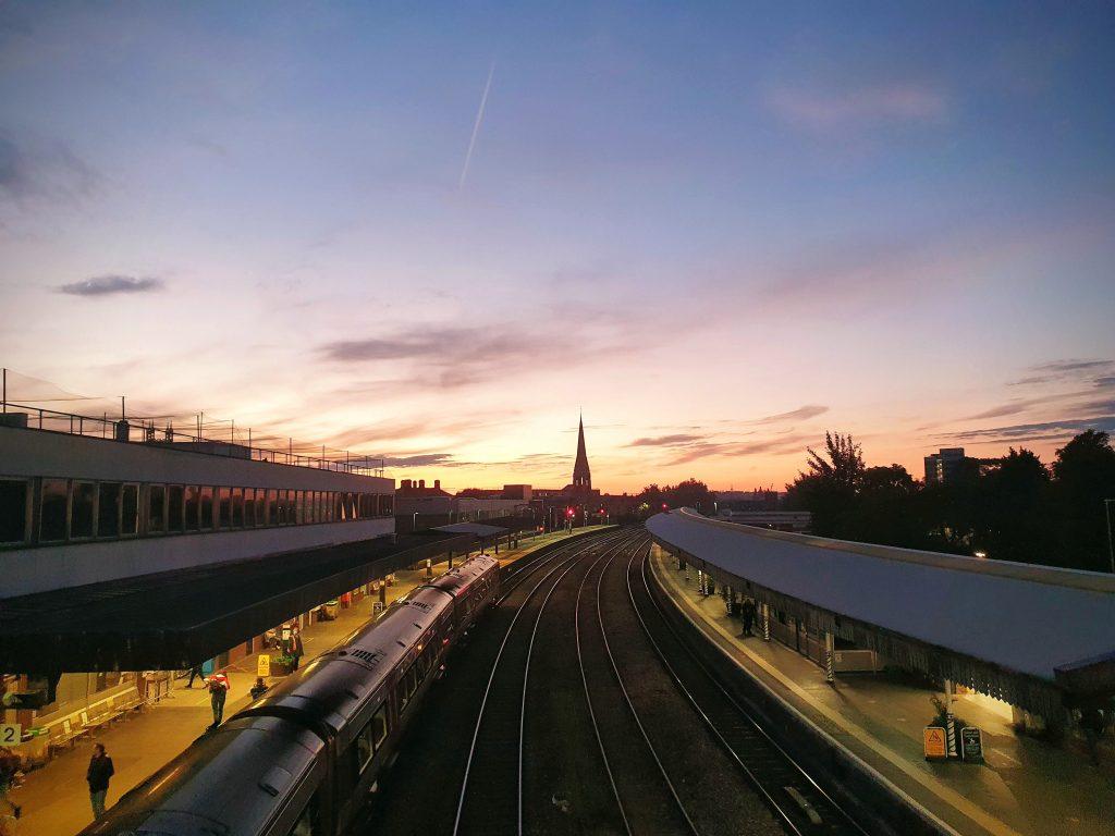 Gloucester Railway Station Sunset
